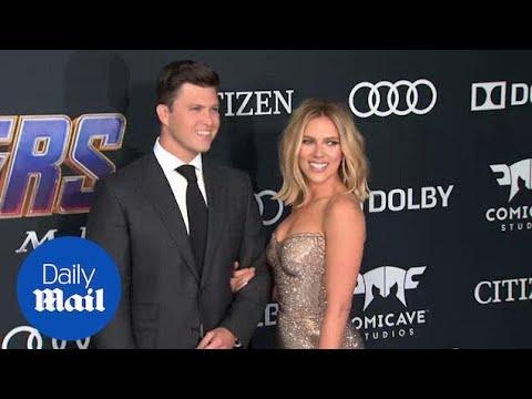 Scarlett Johansson And Colin Jost At Avengers: Endgame Premiere
