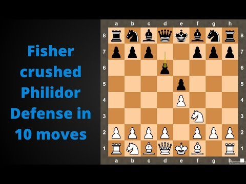 Chess: Bobby Fischer demolished Philidor defense in 10 moves | Fischer vs Ruben Fine