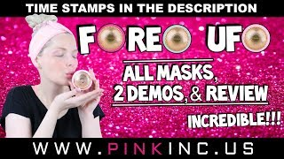 Foreo UFO All Masks, 2 Demos, & Review | Incredible!!! | Tanya Feifel-Rhodes