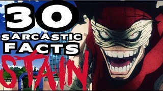 30 SARCASTIC ANIME FACTS - HERO KILLER: STAIN (DON'T LAUGH / GET TRIGGERED CHALLENGE BnHA EP 31)