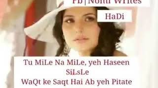 "Status song ""Lyrics Video Of Song ""Dabi Dabi Saanson Mein Suna Tha Maine. .... Winget,dil Se ,"