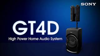 Sony MHC-GT4D Portable personal DJ system with Gesture Control