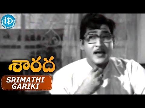 Sarada Movie Songs - Srimathi Gariki Video Song || Sarada, Shobhan Babu || Chakravarthy