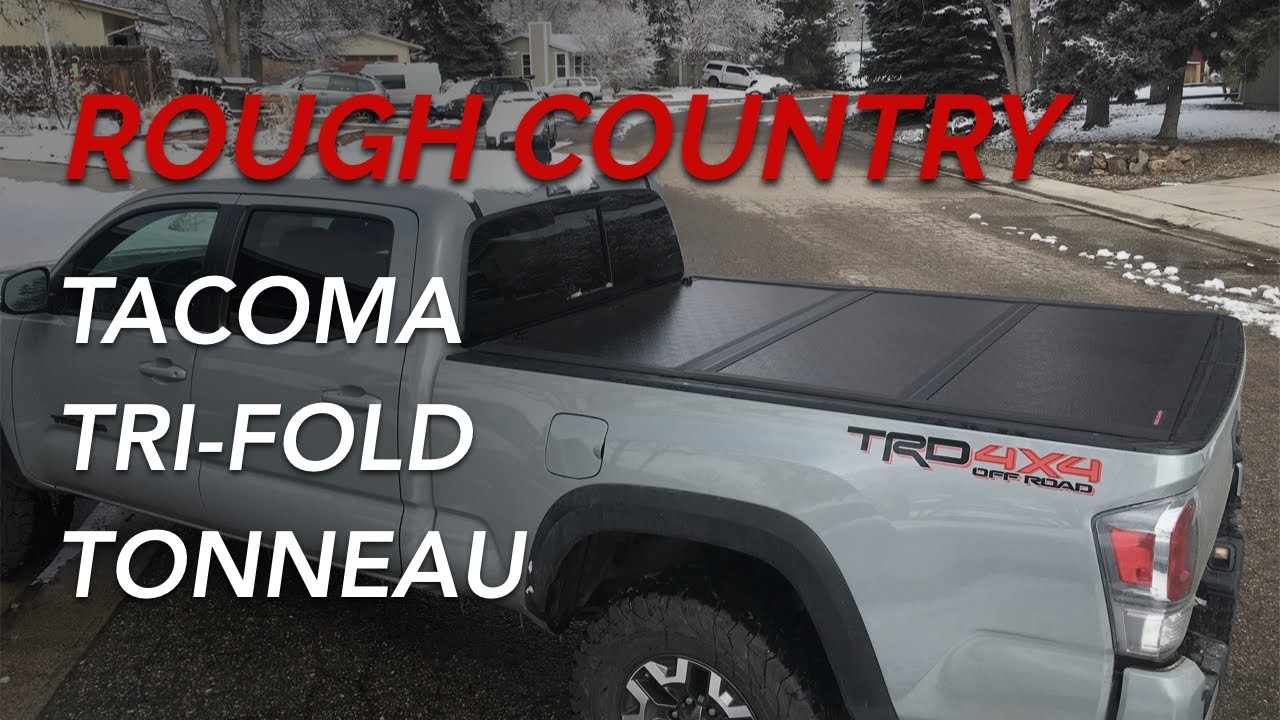 16 20 Toyota Tacoma Rough Country Low Profile Hard Tri Fold Tonneau Cover Installation Review Youtube