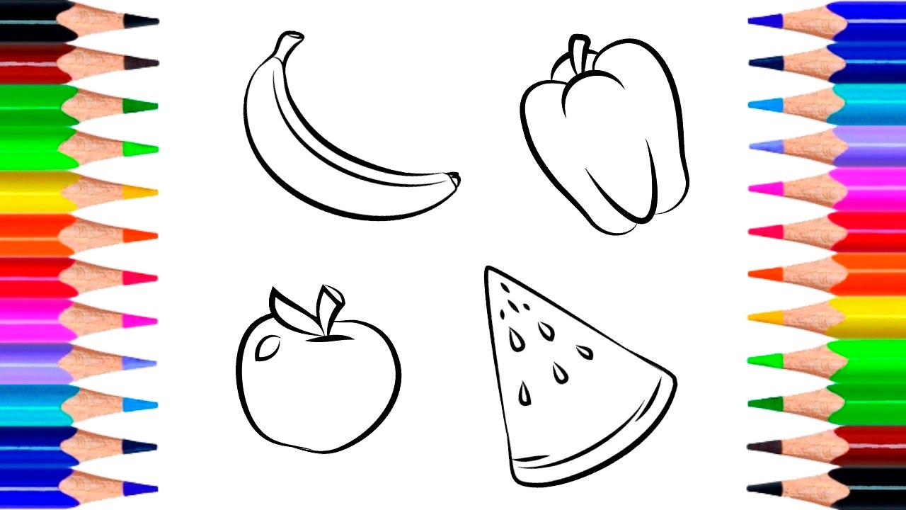 Drawing for Children - Fruits and Vegetables | How to ...
