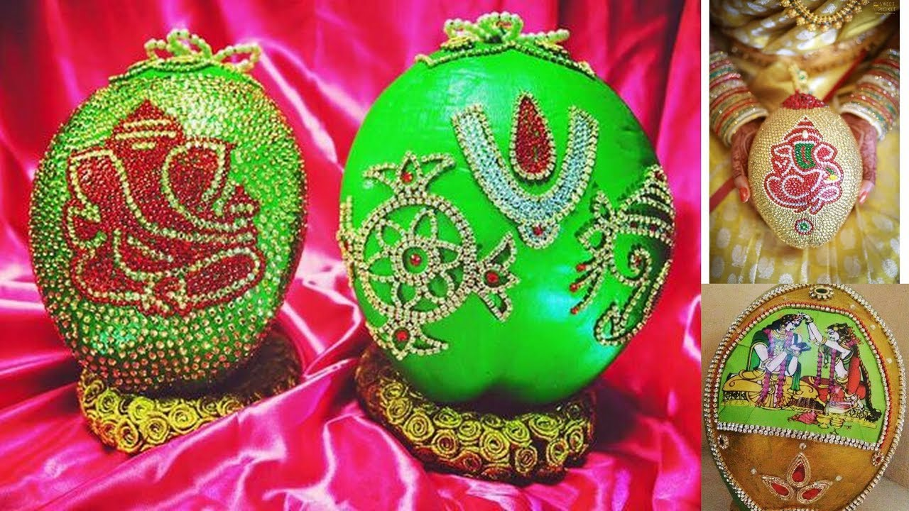 Decorative idea of coconut decoration for wedding ...