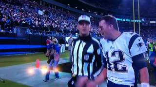 Tom Brady says the F word on live TV!
