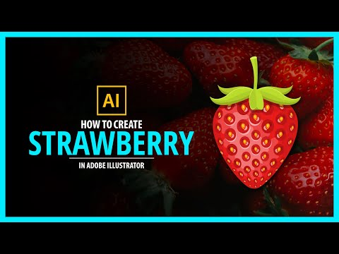 Strawberry in Adobe illustrator - vector tutorial thumbnail
