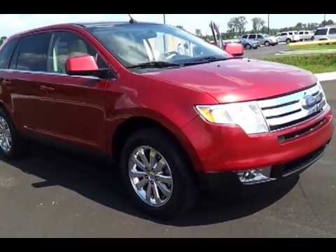 2008 Ford Edge Limited Awd 75k Redfire Metallic 18 Wheels