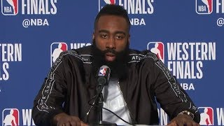 James Harden Postgame Interview - Game 6 | Rockets vs Warriors | May 26, 2018 | 2018 NBA West Finals
