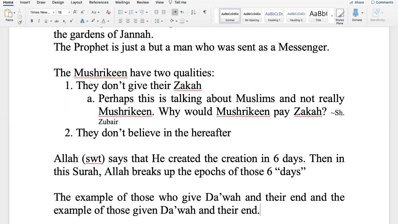 Sh. Zubair || Quranic Overview (Juz 25)