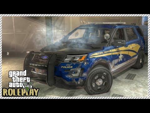 GTA 5 ROLEPLAY - Junkyard Rescue! Police Ford Interceptor SUV | Ep. 186 Civ
