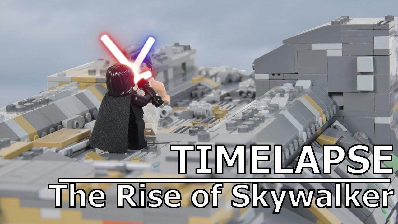 Lego Kylo Ren Vs Rey From The Rise Of Skywalker Trailer Lego Star Wars Moc Speedbuild Timelapse Youtube