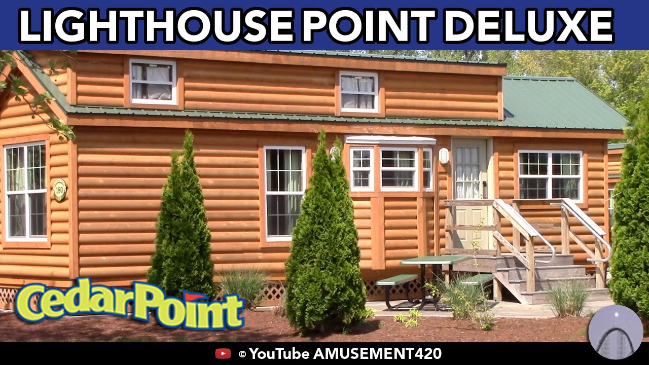 CEDAR POINT LIGHTHOUSE POINT DELUXE CABINS AREA IN HD + 3D Floor Plan Info  Pics Map   YouTube