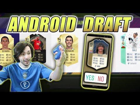 ANDROID MI BIRA DRAFT!! *STRAŠNA IKONA* FIFA 18