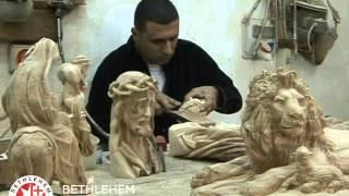 Olive Wood Carvings at Bethlehem Handicrafts in Bethlehem, the Holy Land