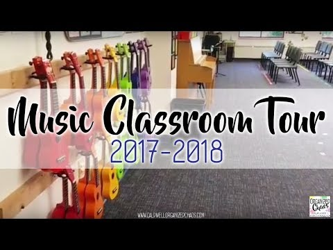 Elementary Music Classroom Tour 2017-2018 Organized Chaos