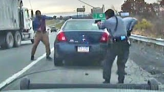 Dashcam Shows Intense Shootout Between Troopers And Suspect thumbnail