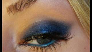 new year s eve blue cat eye makeup