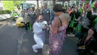 Popping the question on Olympic torch relay - no comment