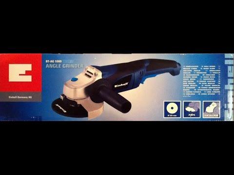УШМ/Болгарка Einhell BT-AG 1000 125 Blue Обзор(Углошлифовальная Машина Энхель 125) Ч.2