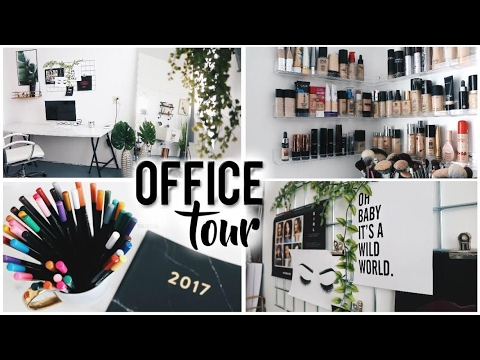 OFFICE TOUR & MAKEUP STORAGE 2017!