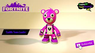 Cuddle Team Leader Figure | Fortnite Funny Skin View 360