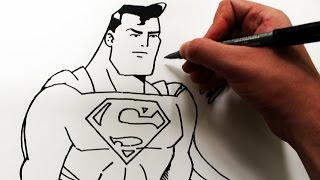 Como Desenhar o Superman [Animated Series] - (How to Draw Superman) - SLAY DESENHOS #170