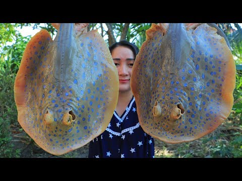 Yummy Stingray Cooking Coconut Milk – Stingray Sour Soup Recipe – Cooking With Sros