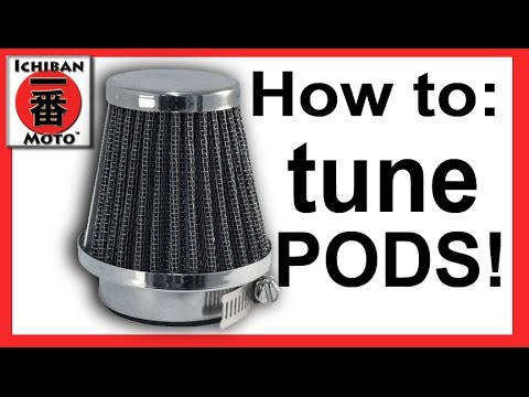 How To rejet for filter pods and tune motorcycle cv carburetors
