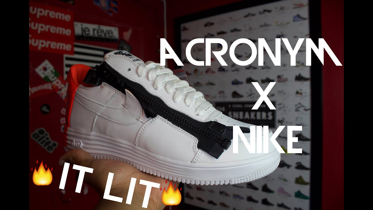 check out 28d13 db528 ACRONYM X NIKE LUNAR FORCE ONE 1 REVIEW +ONFEET