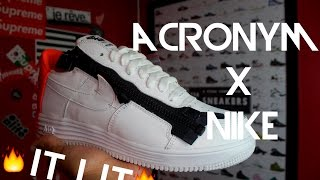 ACRONYM X NIKE LUNAR FORCE ONE 1 REVIEW +ONFEET