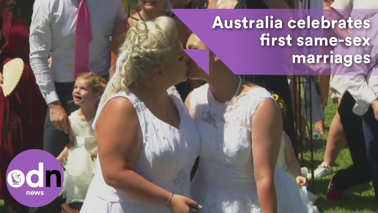 I do! Australia celebrates first same-sex marriages
