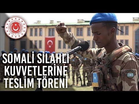 Somali Silahlı Kuvvetlerine Teslim Töreni