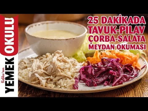 15 Liraya 4 Kişilik Yemek Hazırlama | 25 Dakikada Tavuk-Pilav, Çorba ve Salata Menüsü