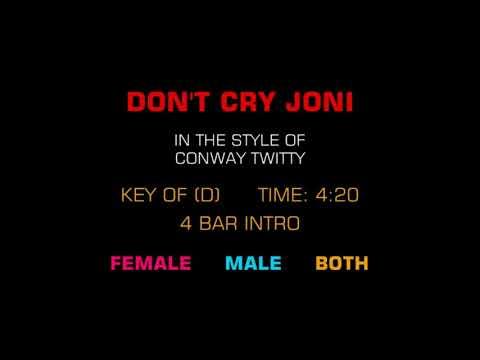 Dont cry joni karaoke