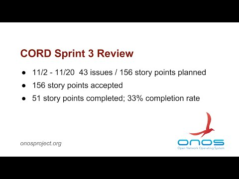 CORD Sprint #3 Review