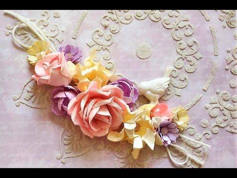 Как сделать цветок из бумаги скрапбукинг фото 251