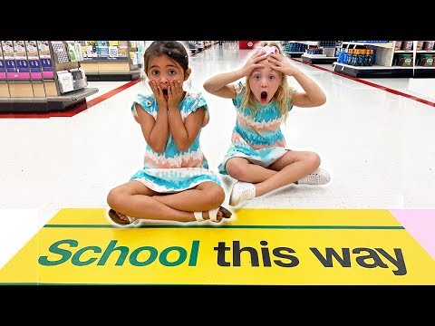 EVERLEIGH AND AVA DO THE BACK TO SCHOOL SHOPPING RACE!!! *CHALLENGE*