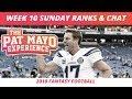 2018 Fantasy Football Rankings Update Live —Week 10 DraftKings Picks, Injuries & Viewer Chat