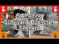 5 Amazing Survival & Bushcraft Shelters