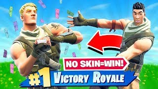 NO SKIN = WIN(kinda)! Fortnite: Battle Royale