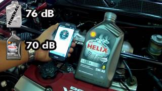 Honda ENGINE SOUND TEST - Synthetic vs Mineral Oil Shell Helix Ultra 5w-40 vs 20w-50