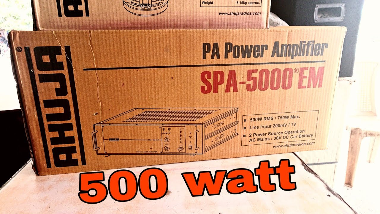 AHUJA SPA-5000®EM HIGH WATTAGE PA POWER AMPLIFIERS UNBOXING & REVIEW