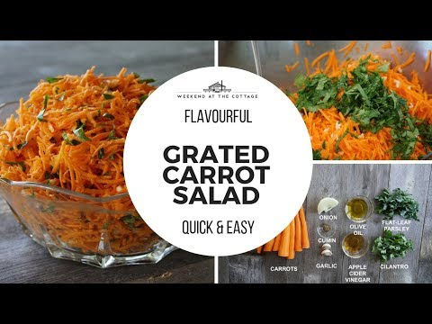 The best GRATED CARROT SALAD | 1 Minute Video!