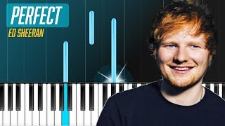 "Ed Sheeran - ""Perfect"" EASY Piano Tutorial - Chords - How To Play - Cover"