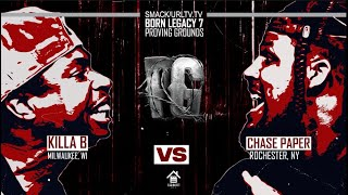 KILLA B VS CHASE PAPER RAP BATTLE | URLTV