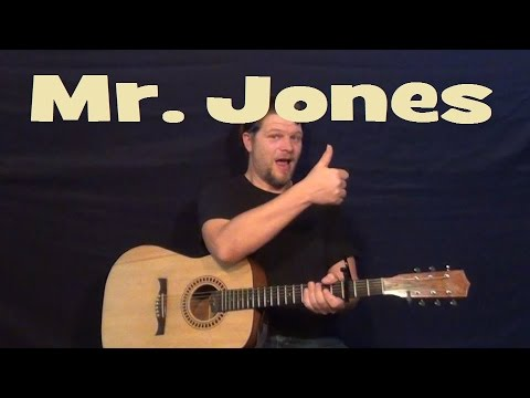 Mr. Jones (COUNTING CROWS) Easy Strum Guitar Lesson - Chords How to ...