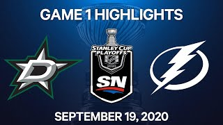 NHL Highlights | Stanley Cup Final, Game 1: Stars vs. Lightning - Sep. 19, 2020