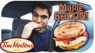 Maple & Bacon Breakfast Sandwich Review! Tim Hortons